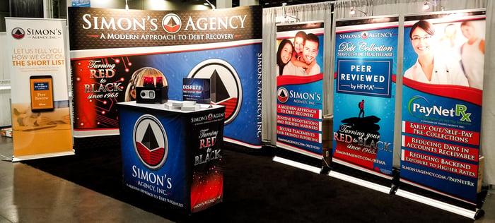 Simon's Agency Booth at HFMA 2018
