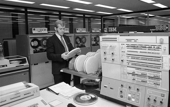 A server room in the 1960's from the City of Toronto Archives (Fonds 1257) shows computing power you can now have in the palm of your hand.